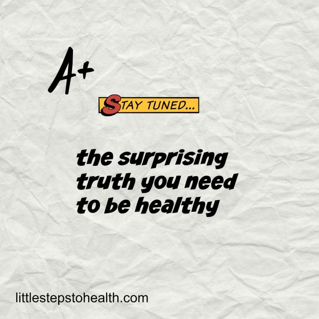 the surprising truth you need to be healthy