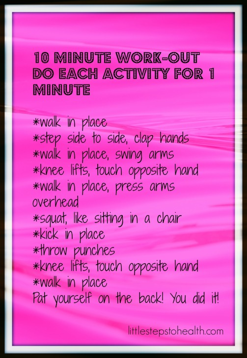 10 minute work out